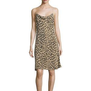 Kate Moss Equipment Leopard Jessa Silk Slip Dress